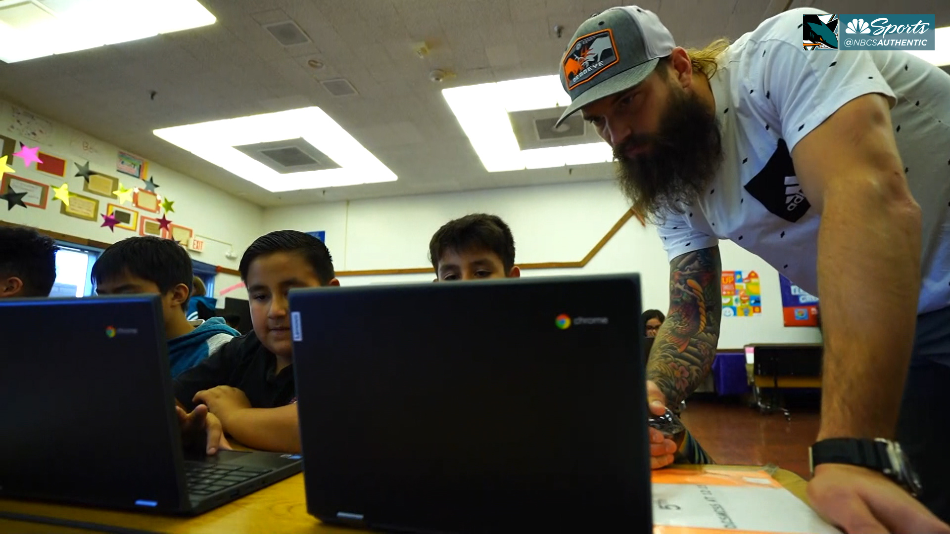 Sharks' Brent Burns helps launch STEM educational program in San Jose