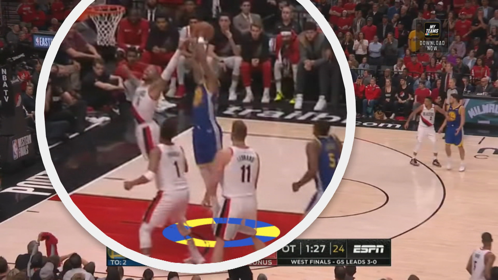 Garry St. Jean demonstrates how Warriors came up clutch in OT vs. Blazers