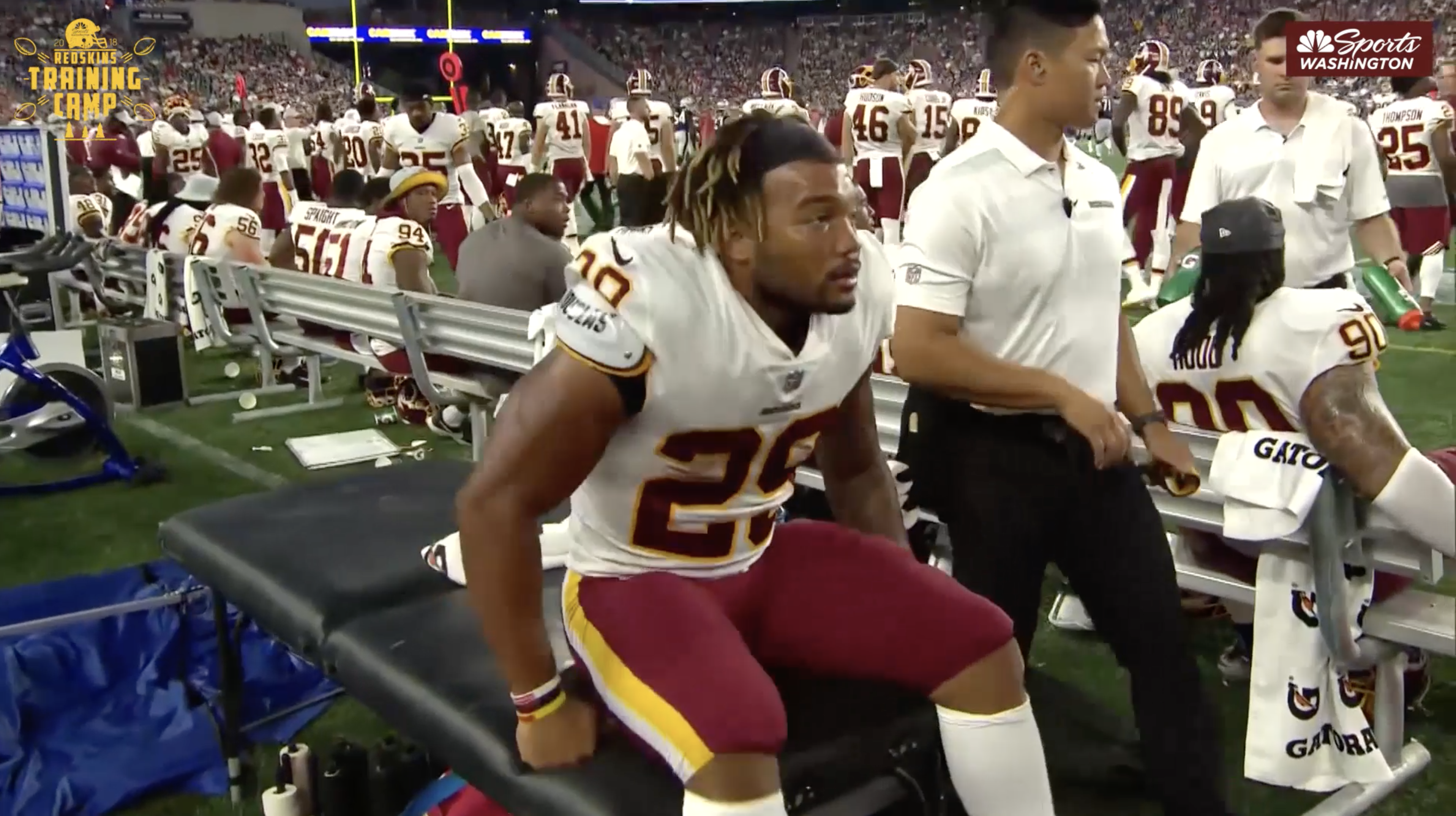 Players reflect on Derrius Guice's season-ending injury