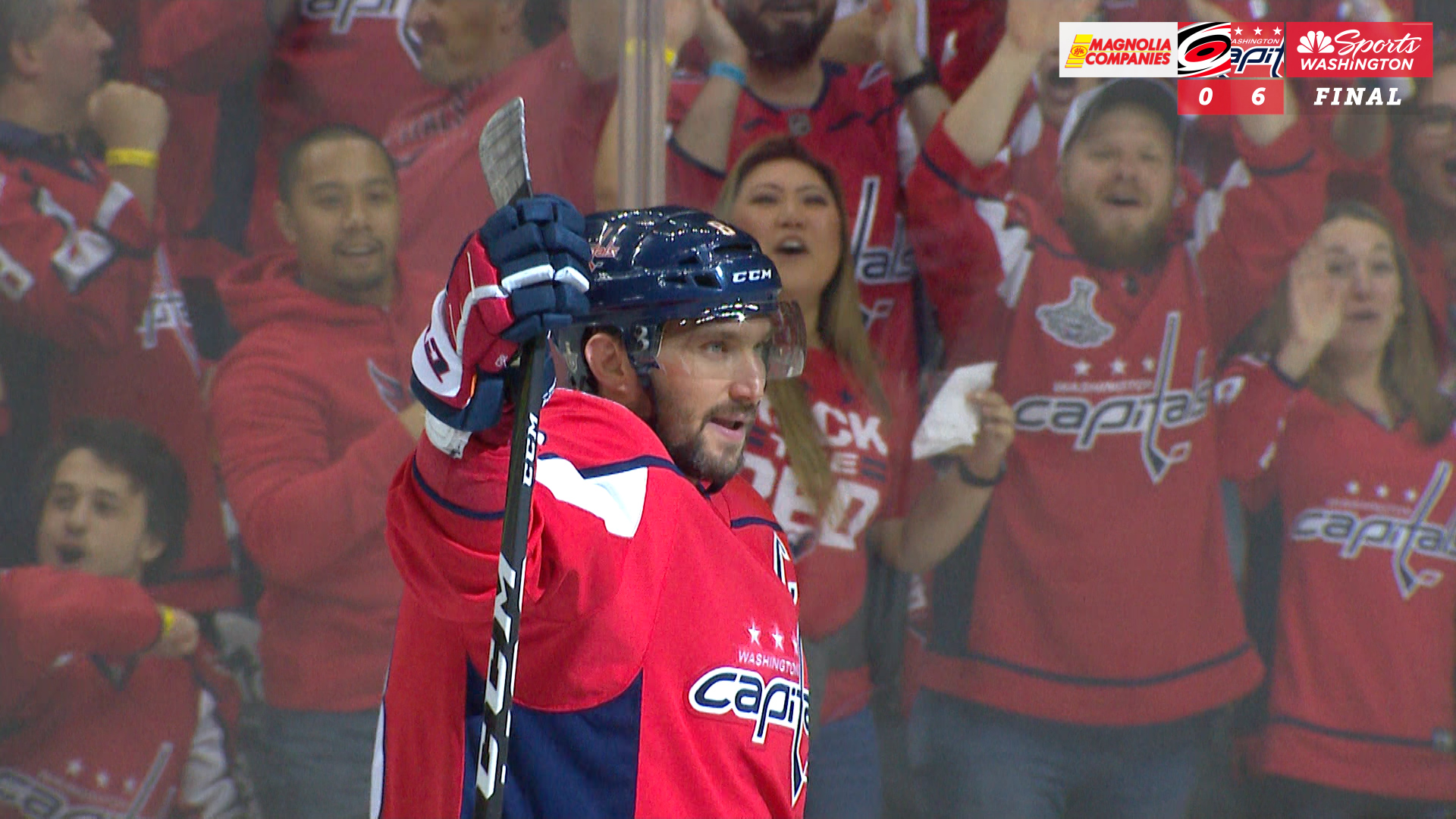 Capitals dominate Hurricanes 6-0 to take 3-2 series lead