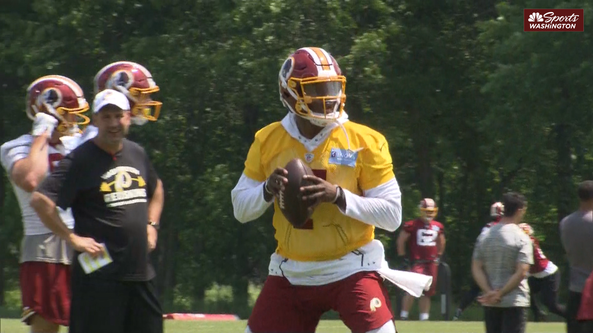 See Dwayne Haskins' first-day highlights from Redskins OTAs