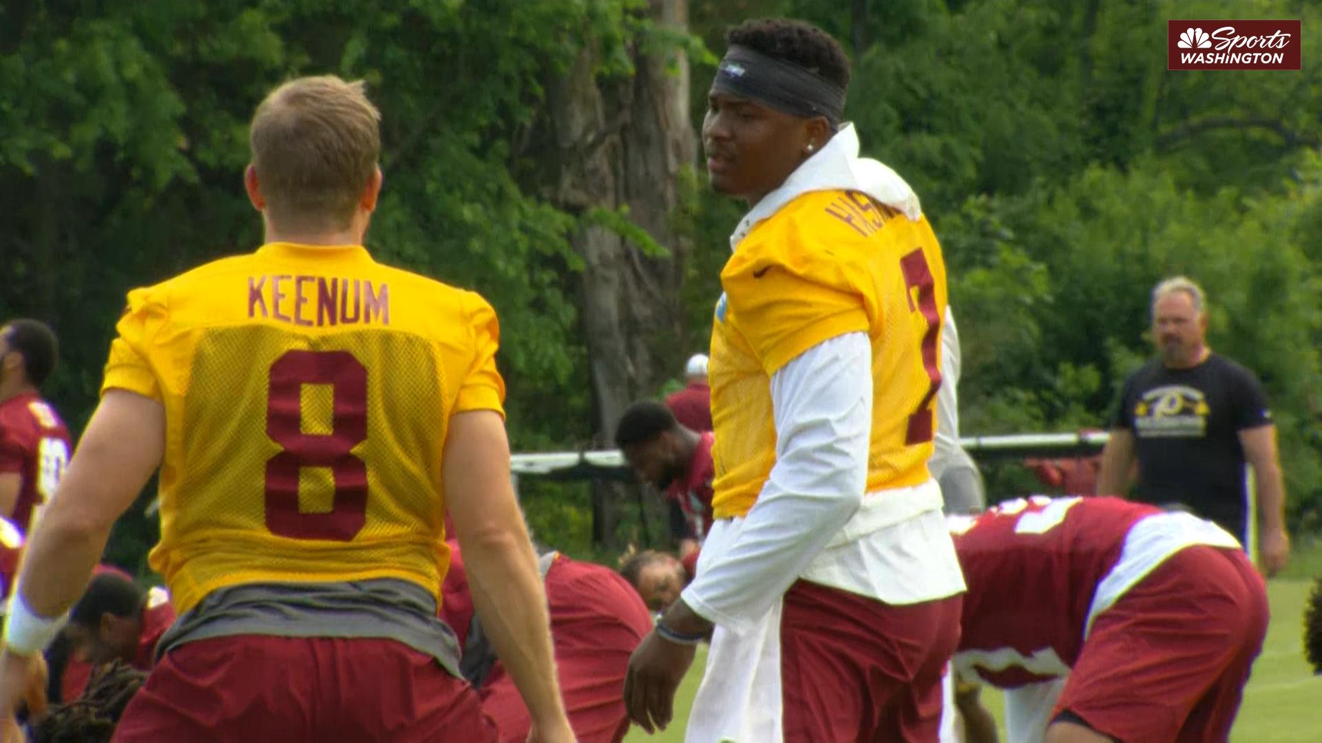 Dwayne Haskins, Case Keenum talk early Redskins quarterback battle