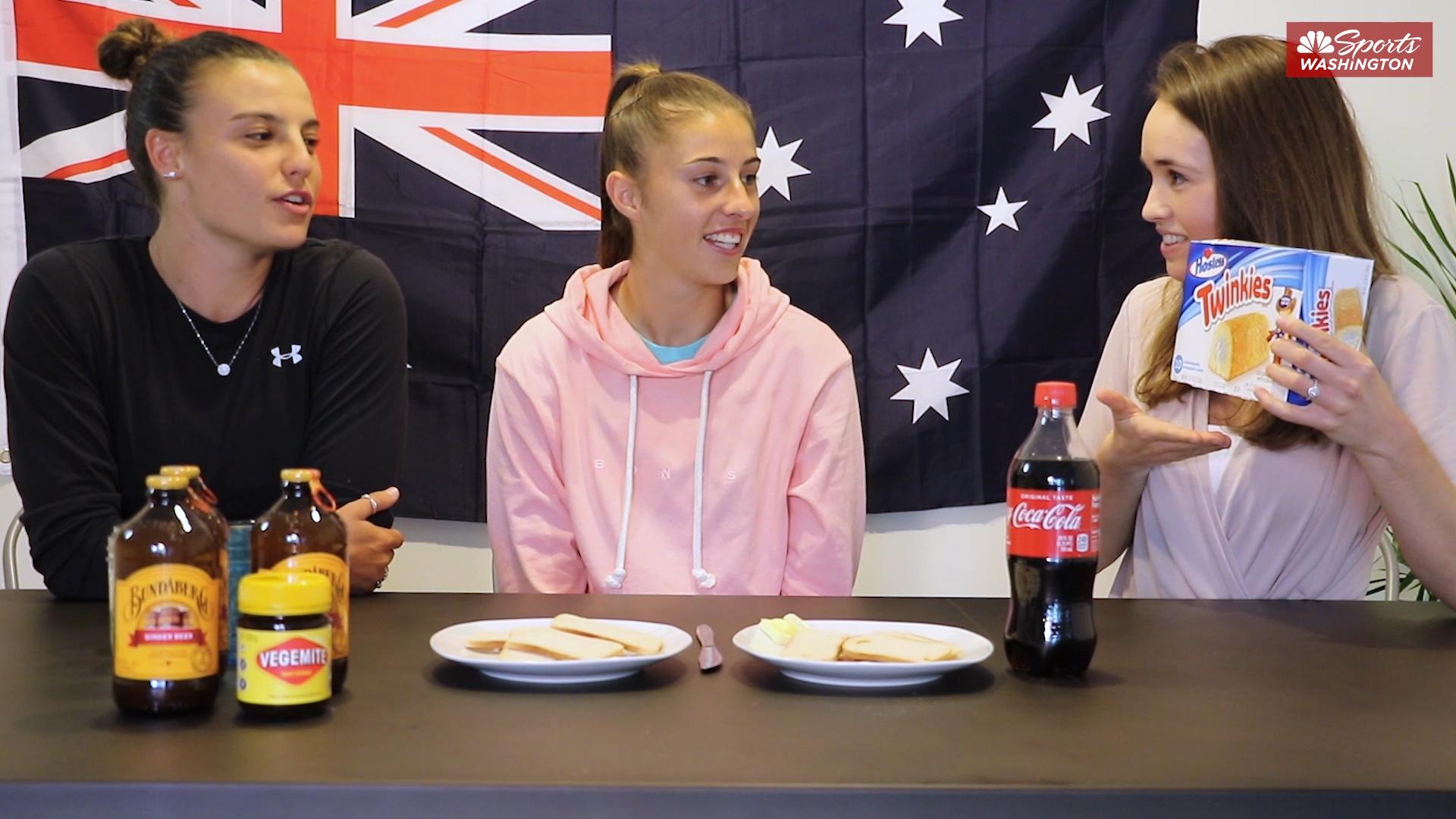 Washington Spirit Aussies taste test signature American treats