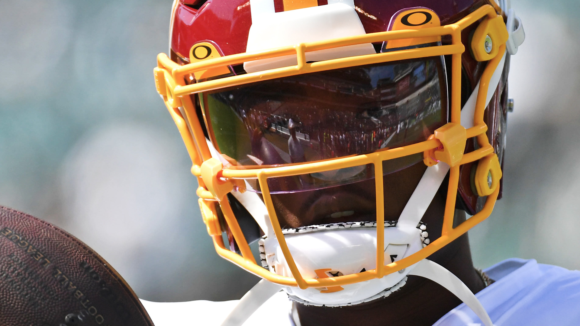 Redskins head coach Bill Callahan is pleased with Dwayne Haskins'