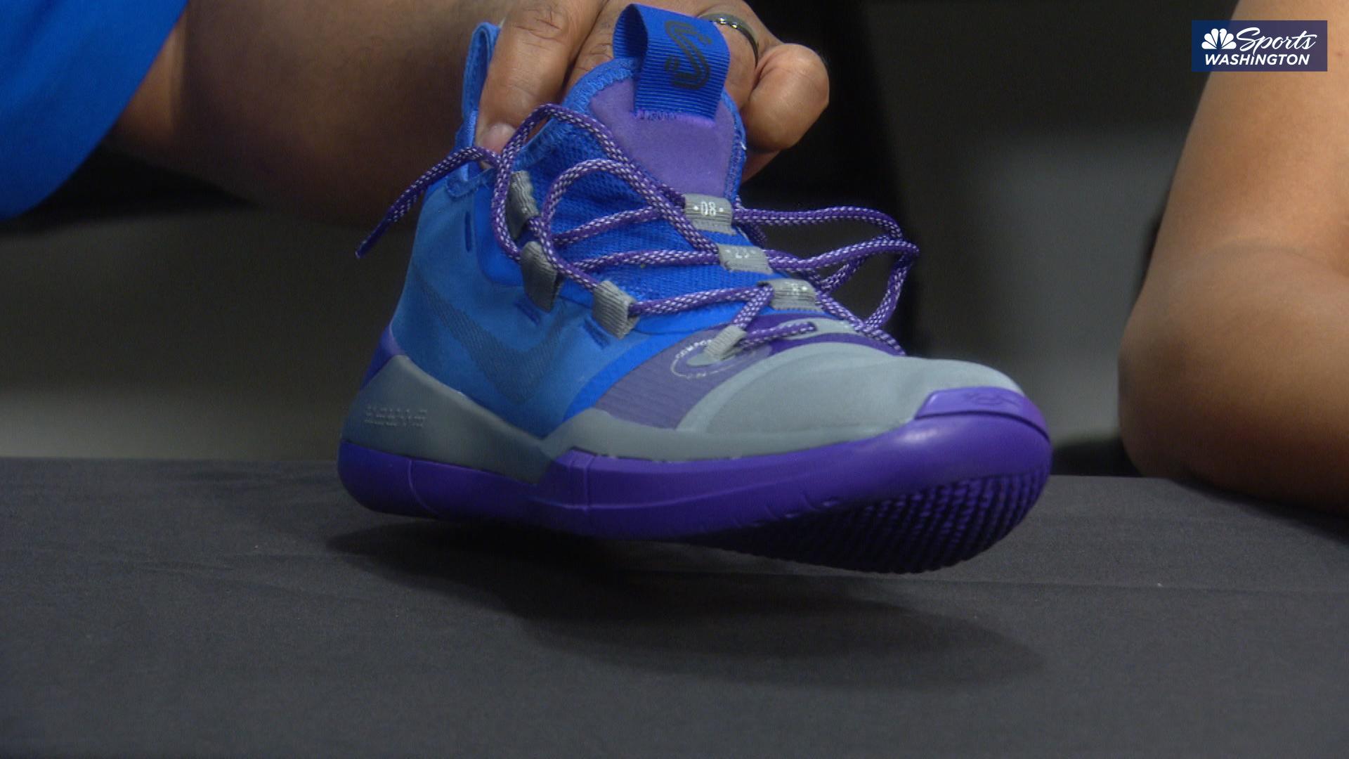 Wizards' coach Scott Brooks designs sneaker for Mystics' Kristi Toliver