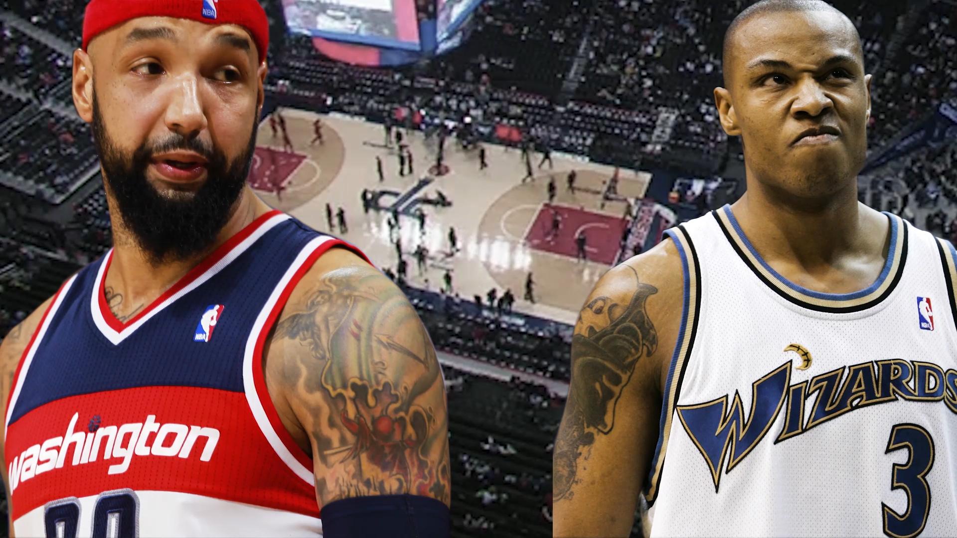 Caron Butler and Drew Gooden team up for the Washington Wizards