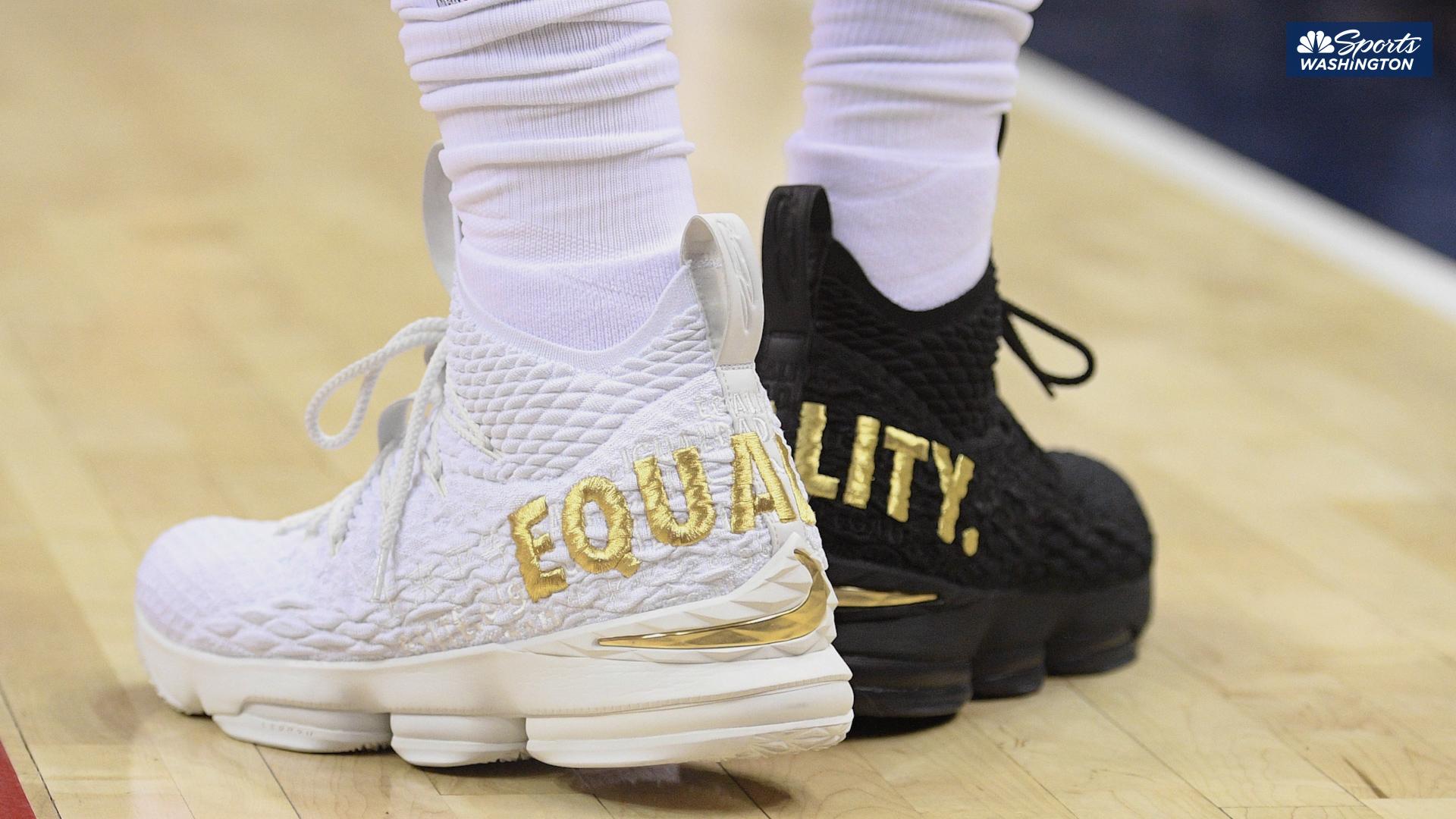 LeBron James' 'Equality' shoes put on display at NMAAHC
