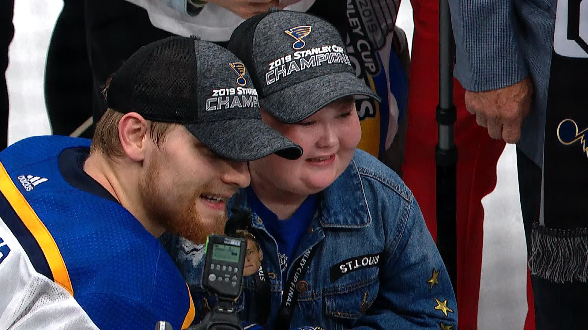 Blues' Colton Parayko celebrates with Laila Anderson, talks Stanley Cup