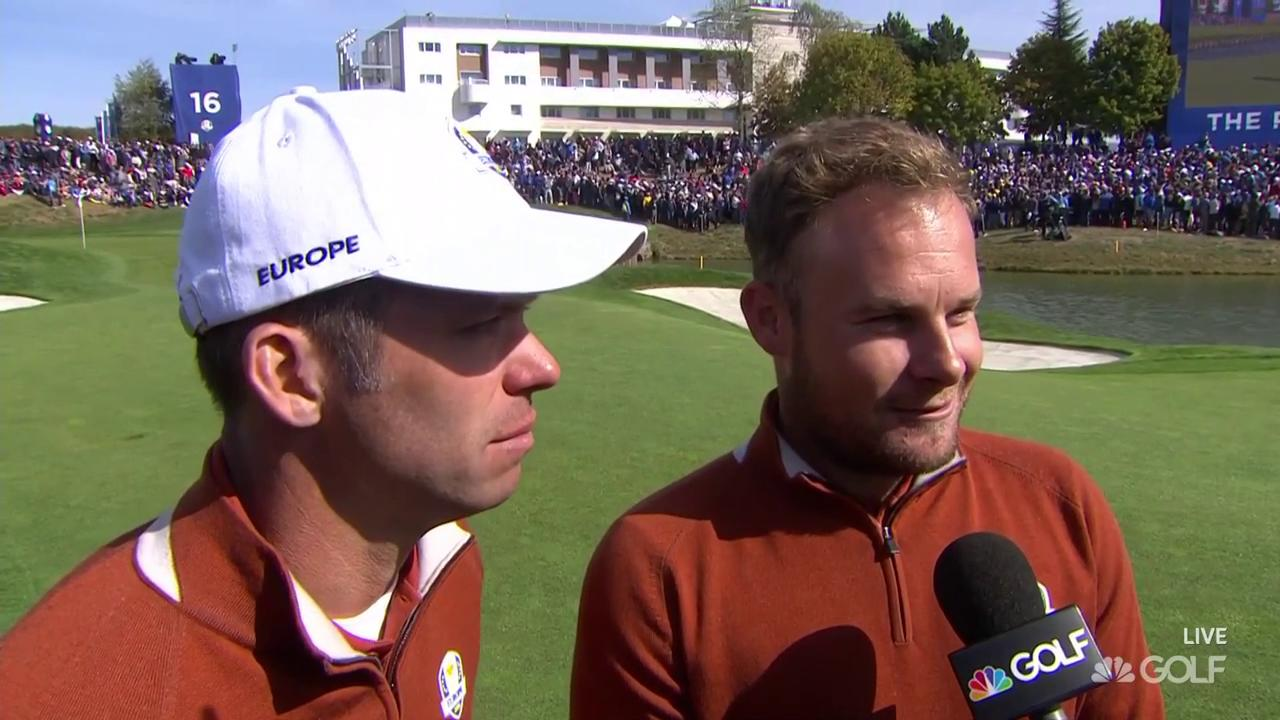 2018 Ryder Cup: Paul Casey, Tyrrell Hatton emotional after win