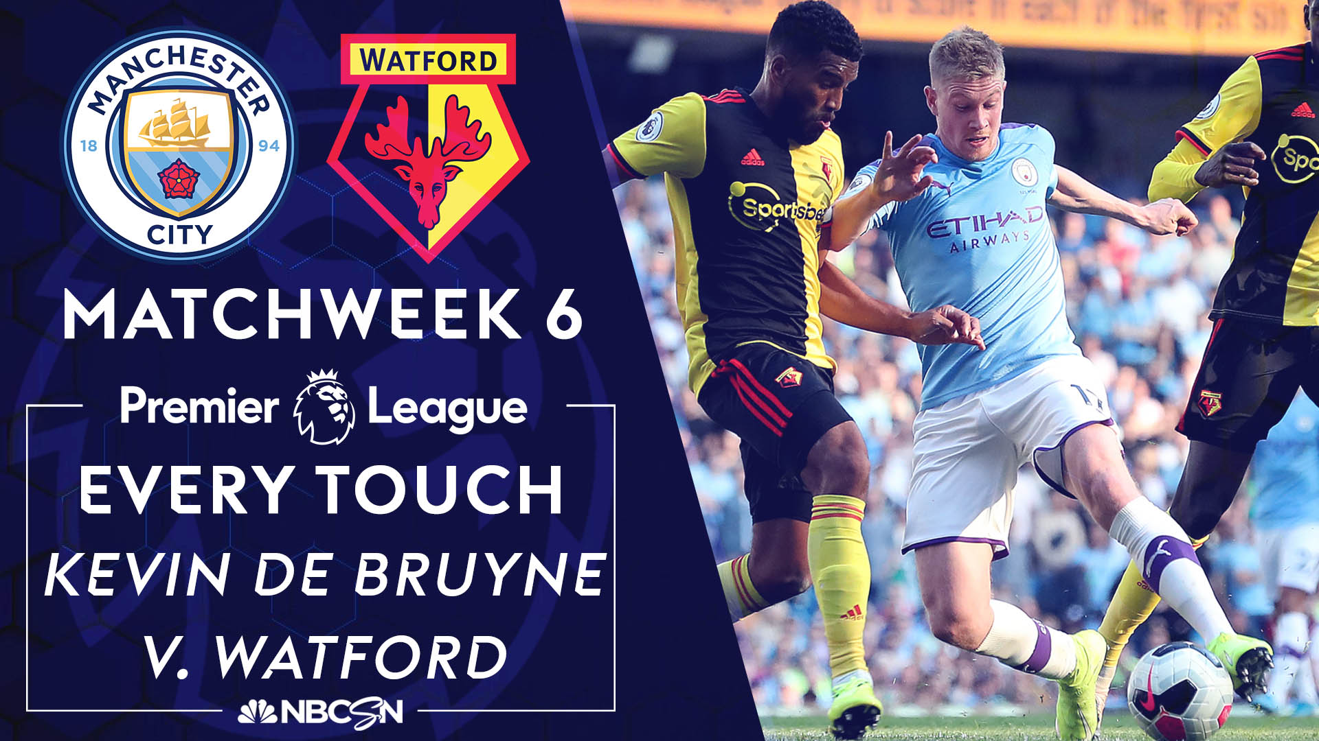 Every Kevin De Bruyne touch for Manchester City v. Watford