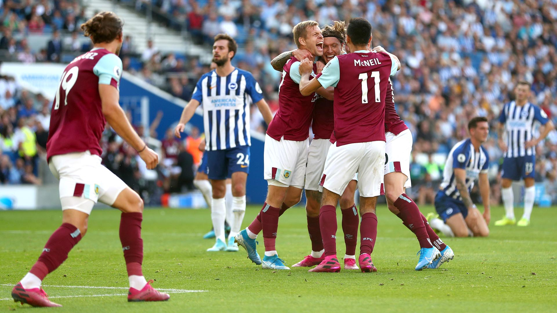 Extended highlights: Brighton and Hove Albion 1, Burnley 1