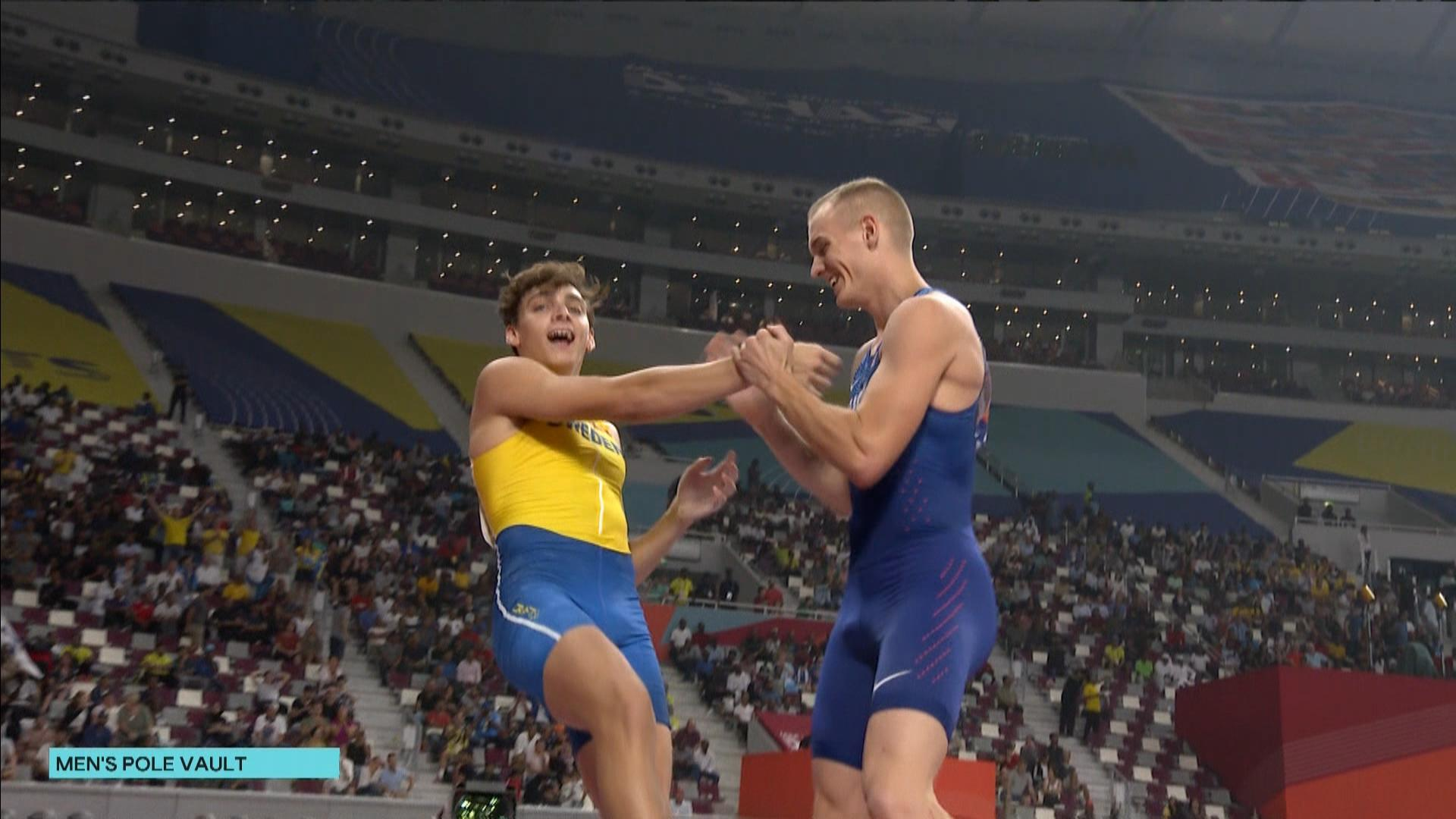 Sam Kendricks defends gold medal over Armand Duplantis in men's pole