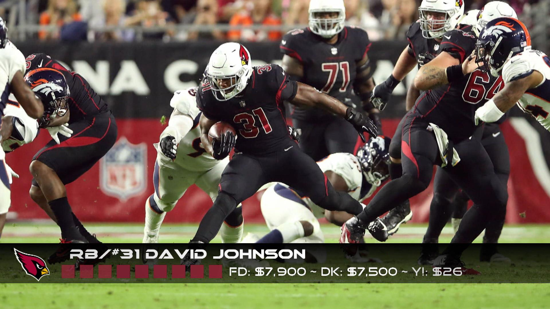 Cardinals' David Johnson, Titans' Dion Lewis are ideal DFS Week 11 plays