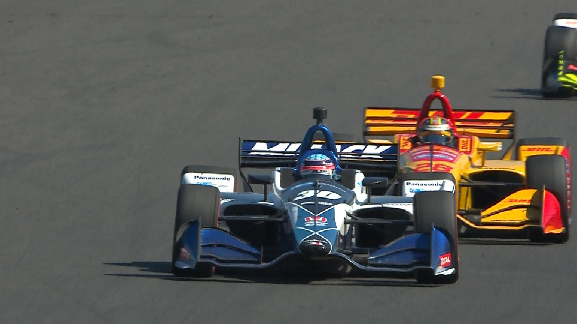 IndyCar's return to Portland starts with crash, ends with Takuma Sato win
