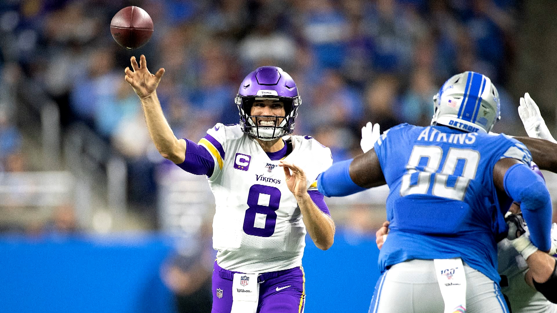 Vikings' get statement win vs. Lions after career day from Kirk