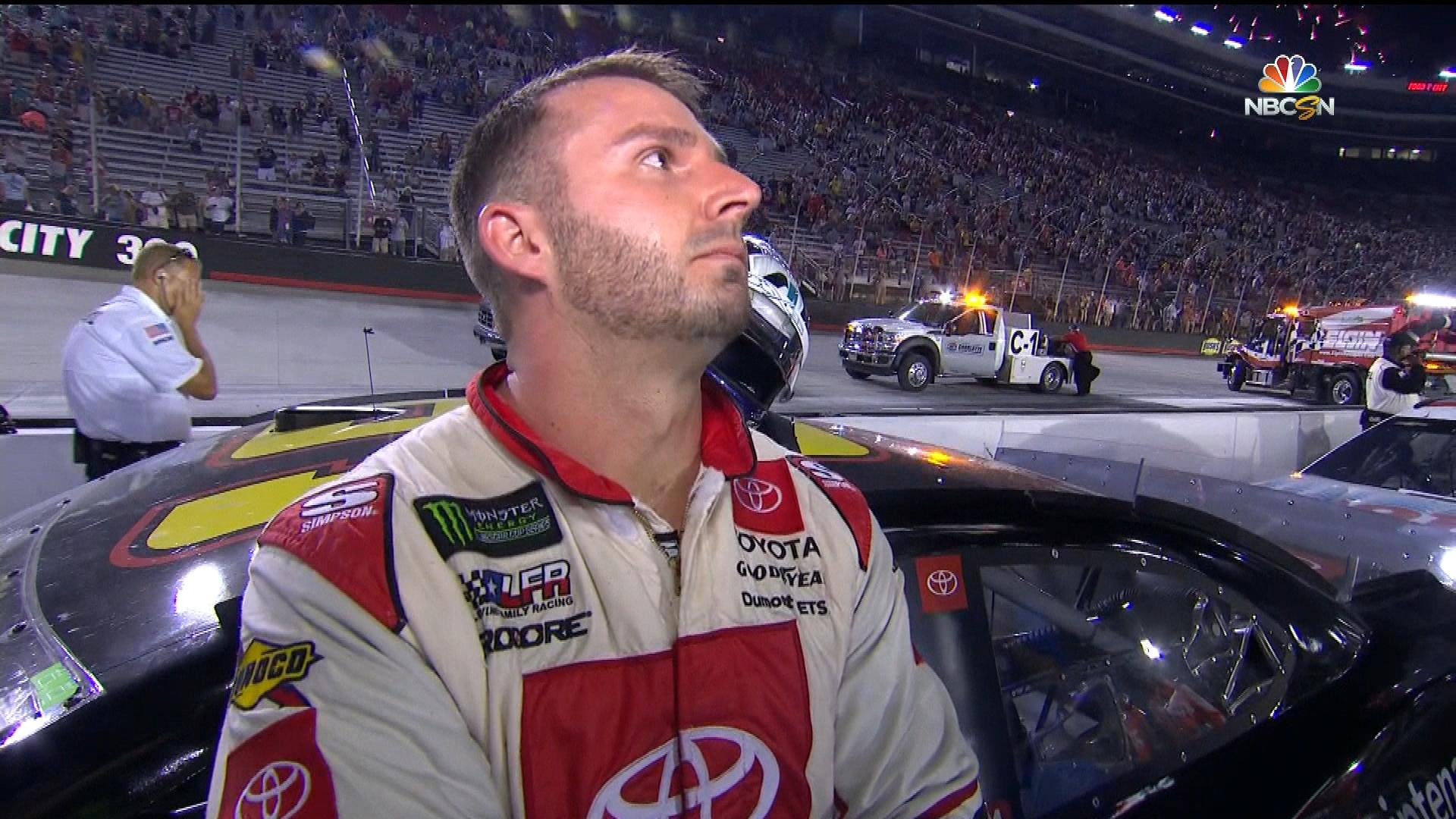 Matt DiBenedetto overcome by emotion after runner-up finish at Bristol