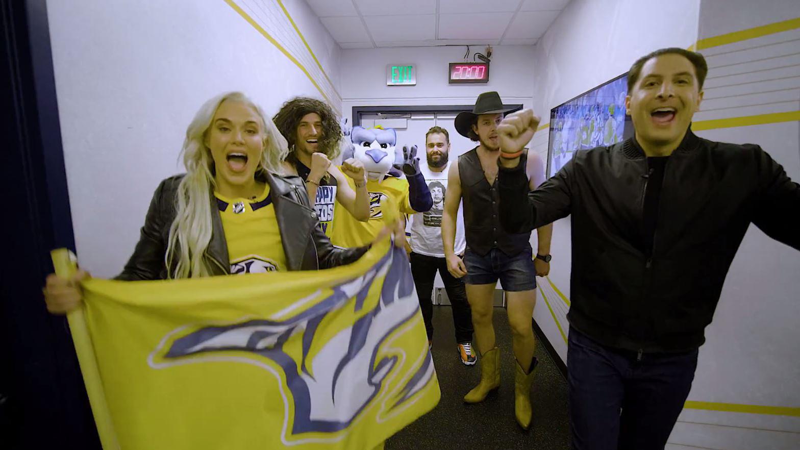 WWE's Rusev, Lana bring Predators' Ryan Johansen, Roman Josi into wrestling