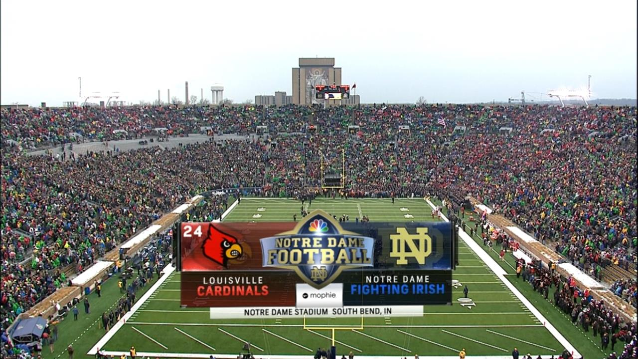 ncaa national championship game time notre dame football nbc