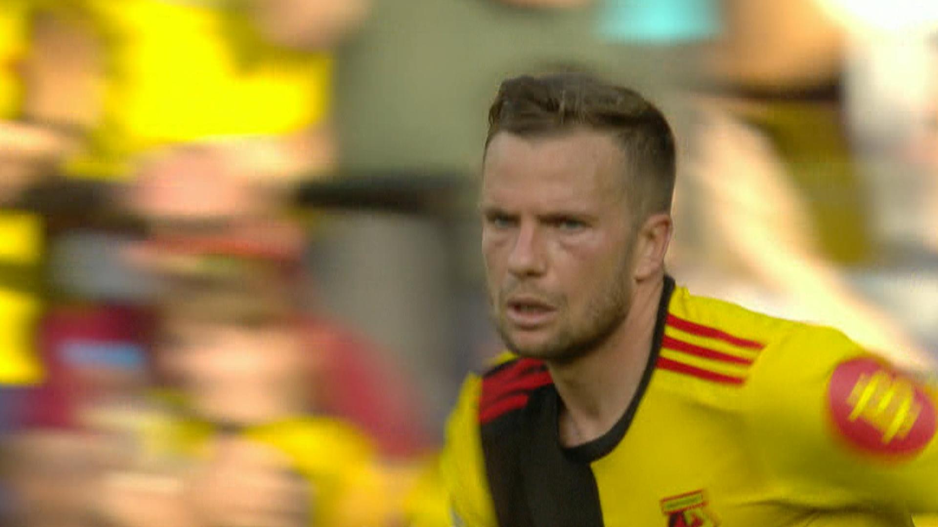 Tom Cleverley halves Watford's deficit v. Arsenal