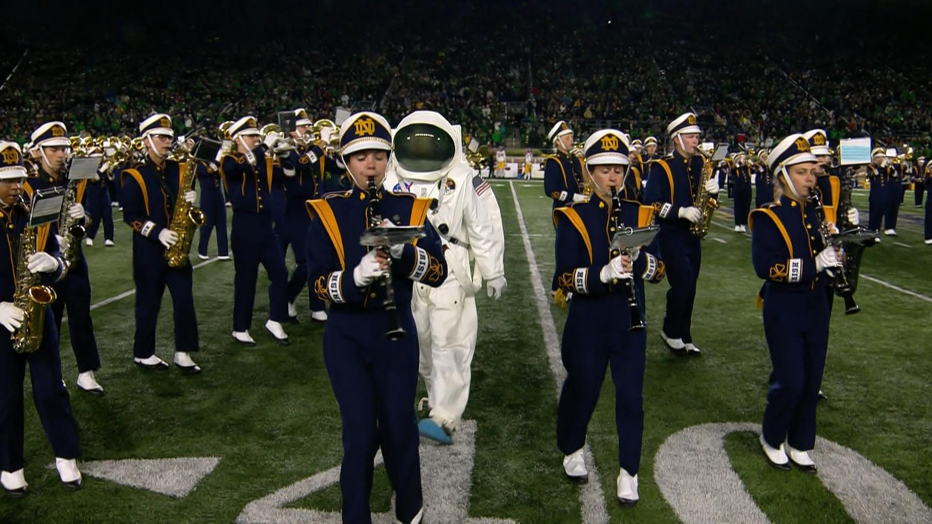 Notre Dame Marching Band plays musical tribute to 1969 moon landing