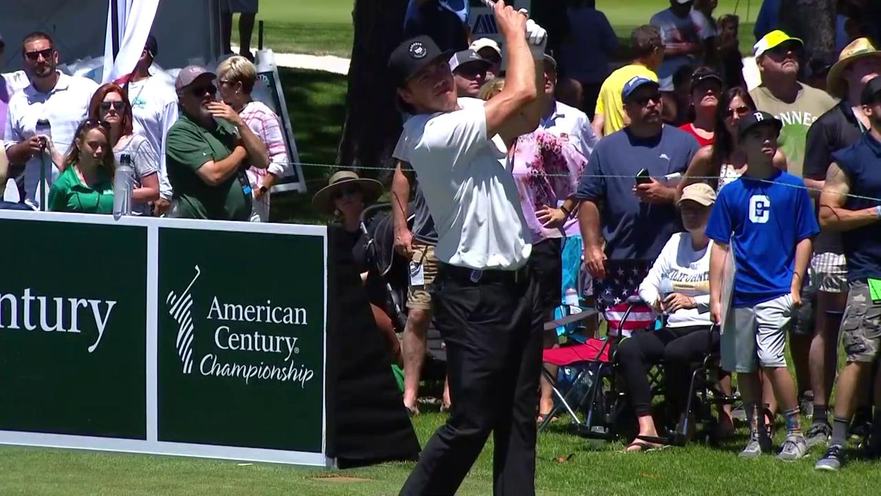 American Century Championship: T.J. Oshie solid drive on 17