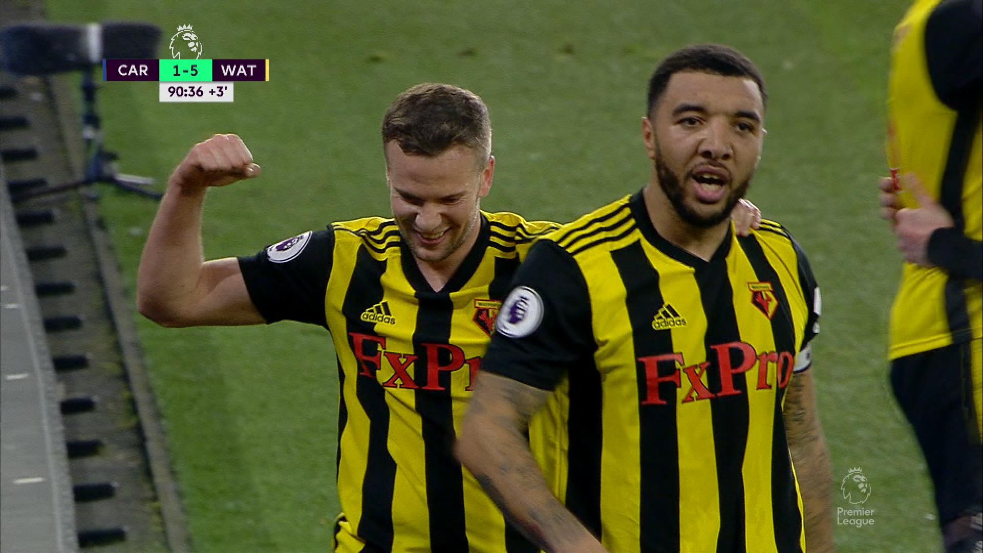 Watford FC's Troy Deeney scores his second v. Cardiff City | NBC Sports