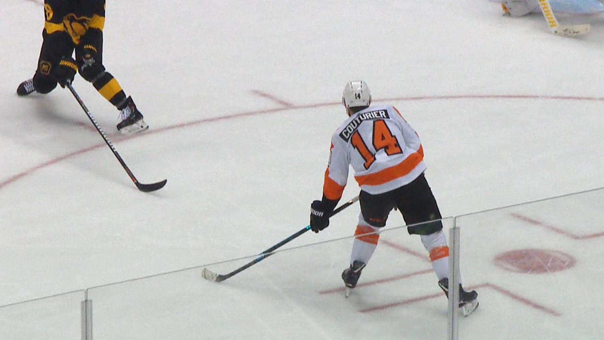 Flyers' Sean Couturier scores OT game winner with three seconds remaining