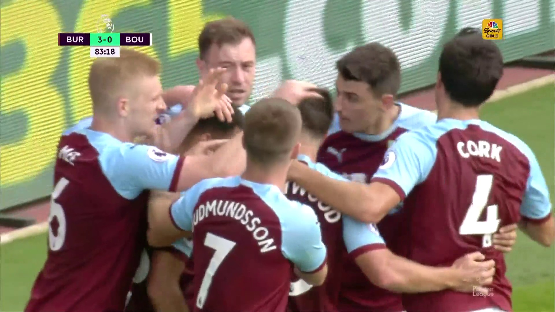 Ashley Barnes goal puts Burnley up 3-0 against Bournemouth