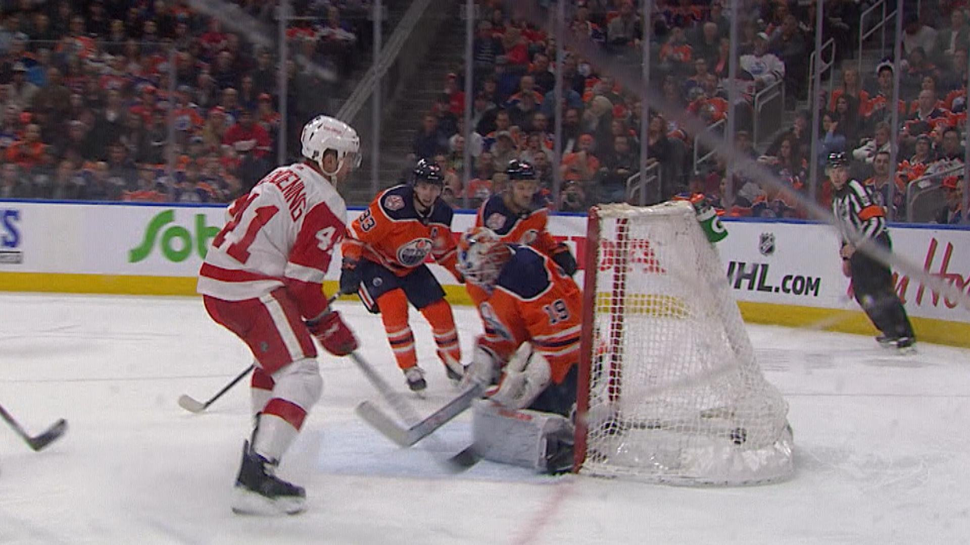 Luke Glendening doubles Red Wings' lead over Oilers