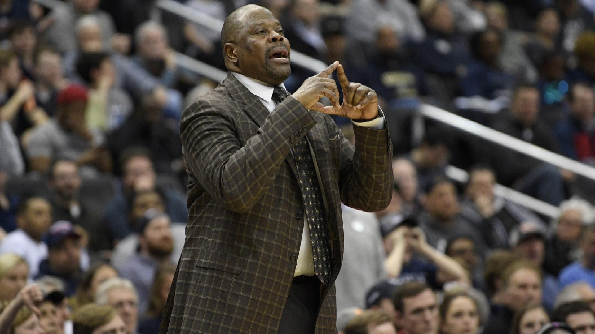 Georgetown coach Patrick Ewing analyzes team after win over Villanova