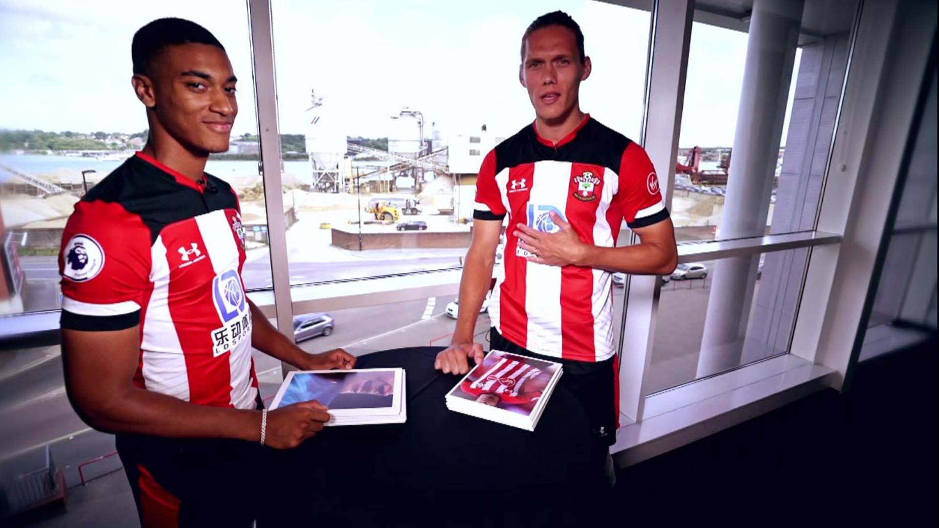 Southampton's Yan Valery, Jannik Vestergaard play Premier League quiz