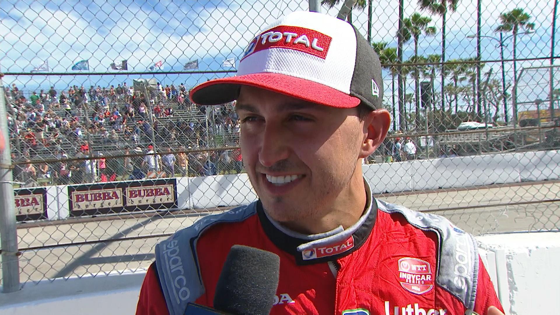 Graham Rahal fourth at Long Beach after IndyCar imposes penalty