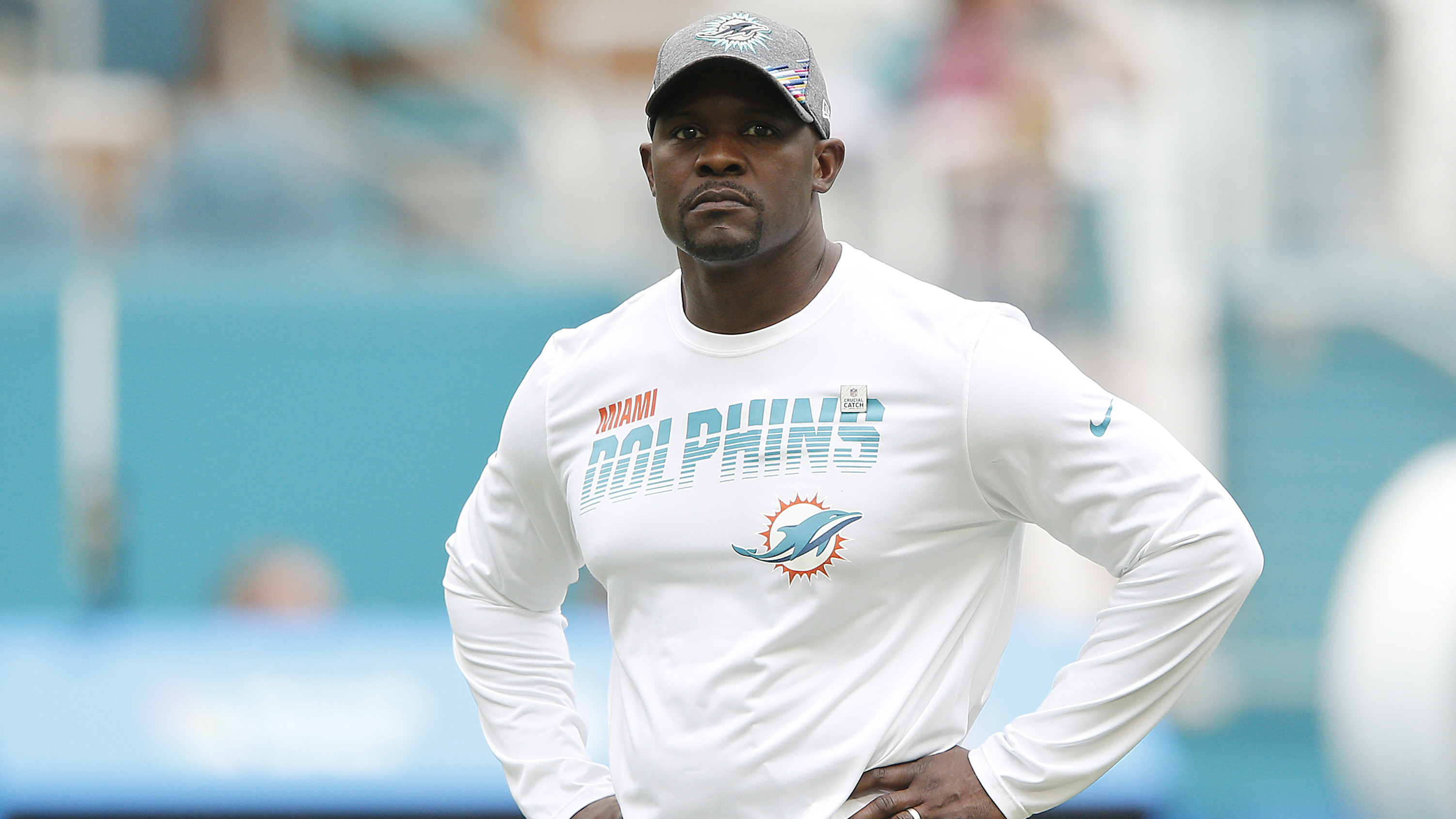 Dolphins' Brian Flores blames lack of execution on failed two-point