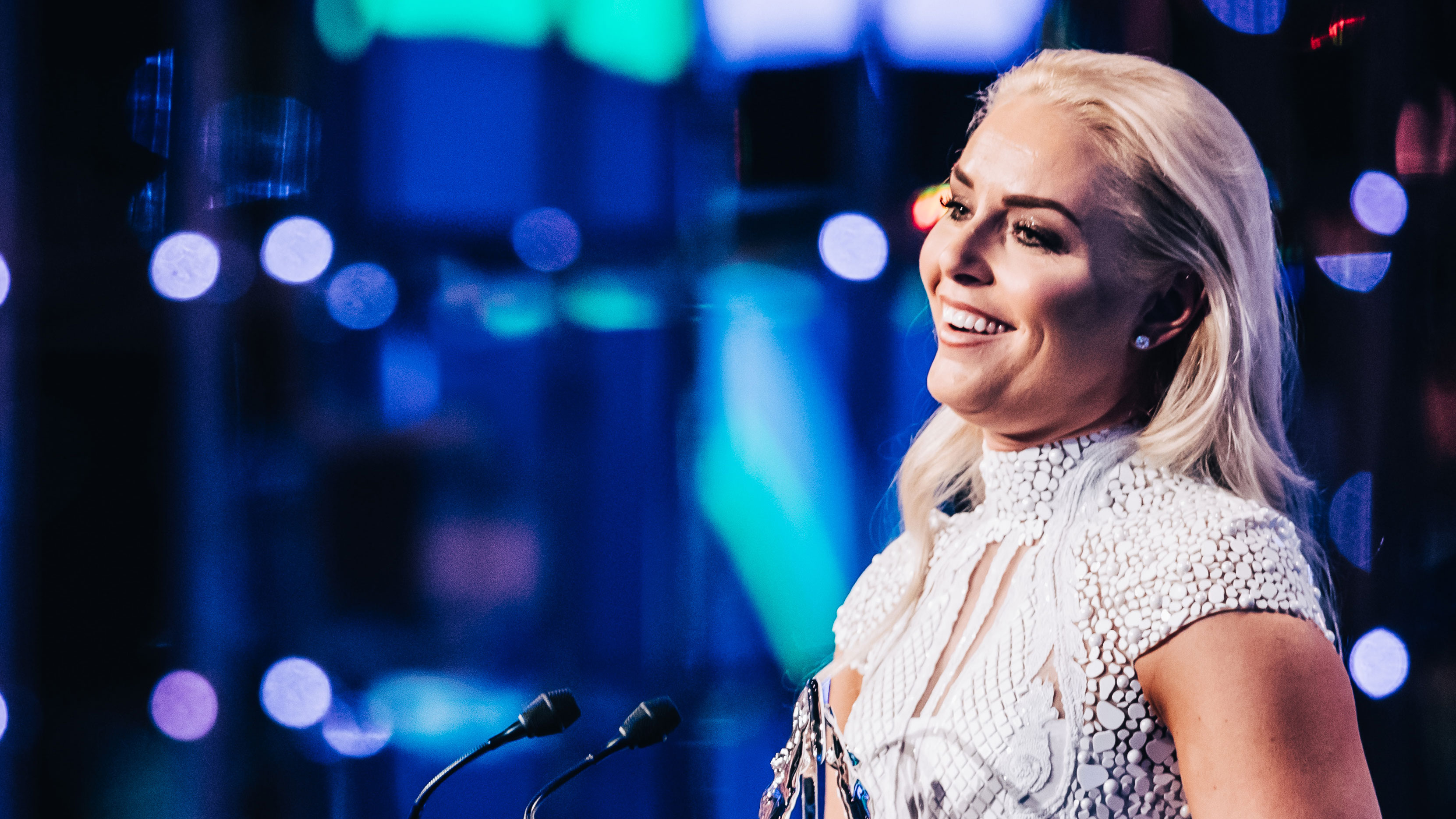 Lindsey Vonn accepts Laureus Spirit of Sport Award