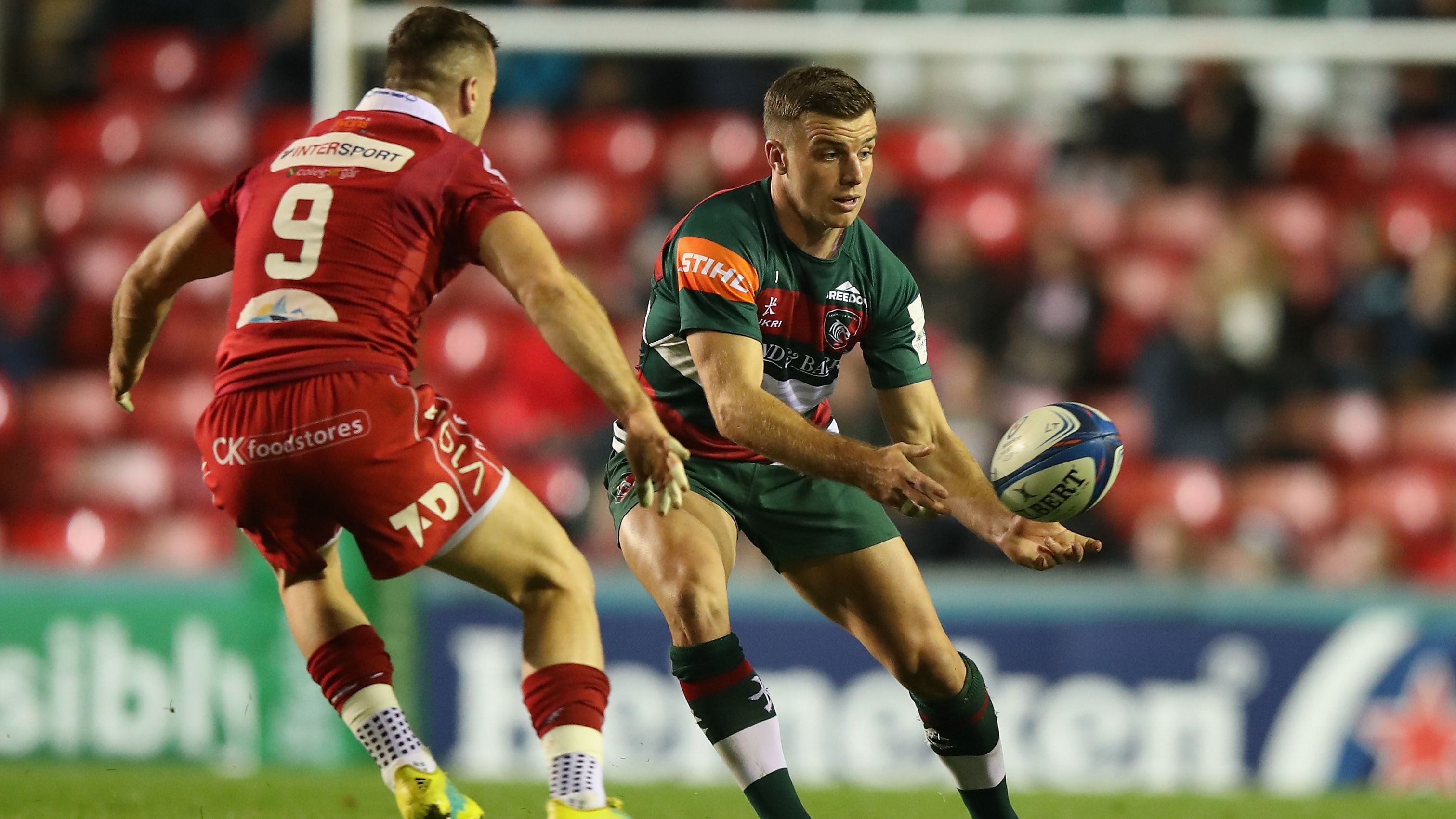 Highlights: Leicester Tigers 45, Scarlets 27