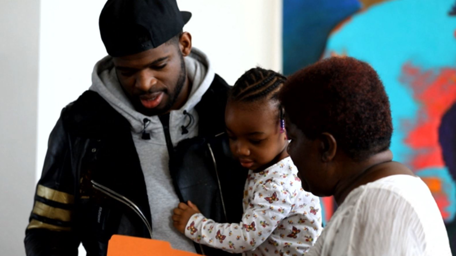 The P.K. Project: Preview: P.K. Subban arrives with his family