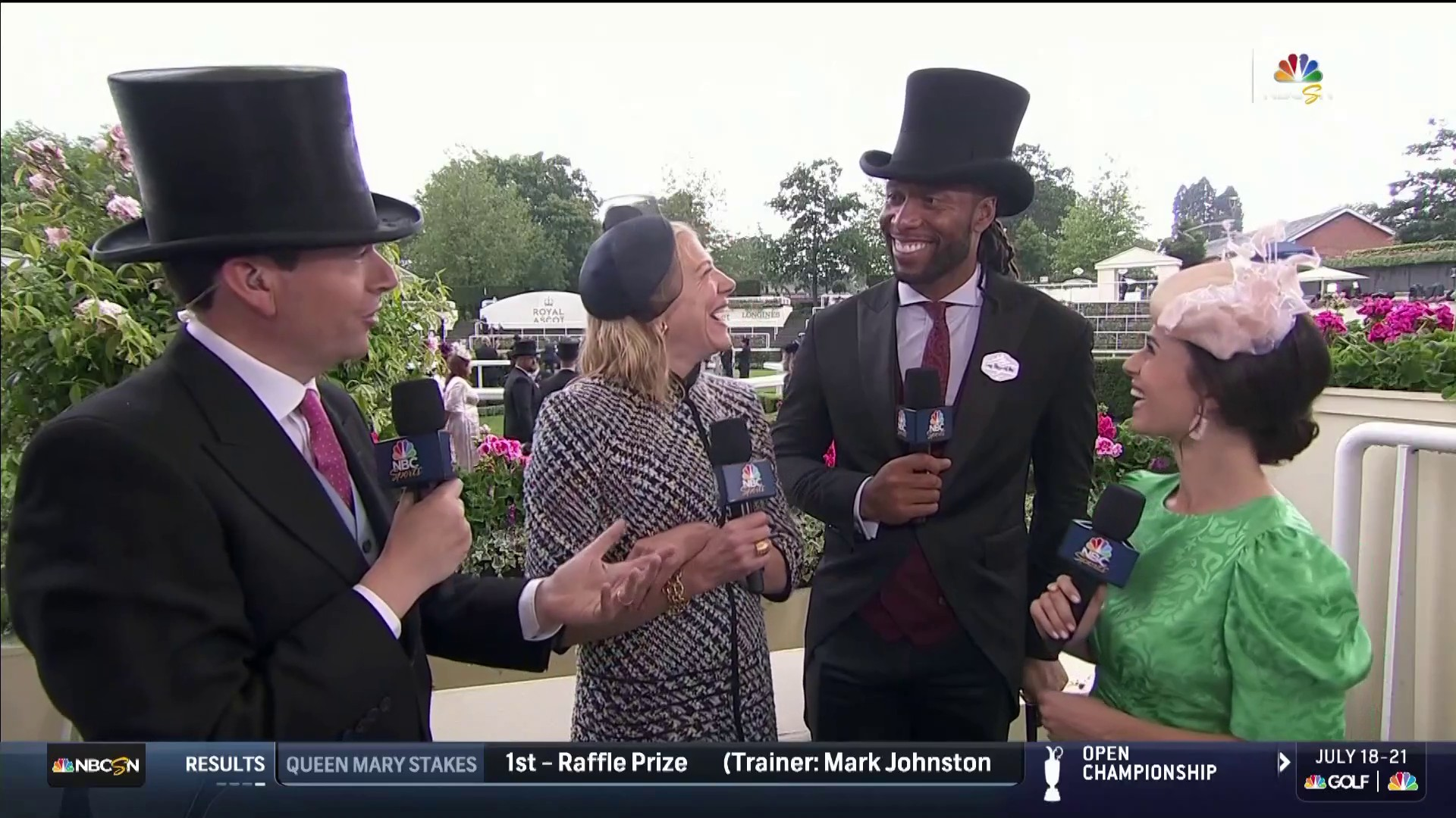 2019 Royal Ascot: Cardinals' Larry Fitzgerald watches Crystal Ocean's