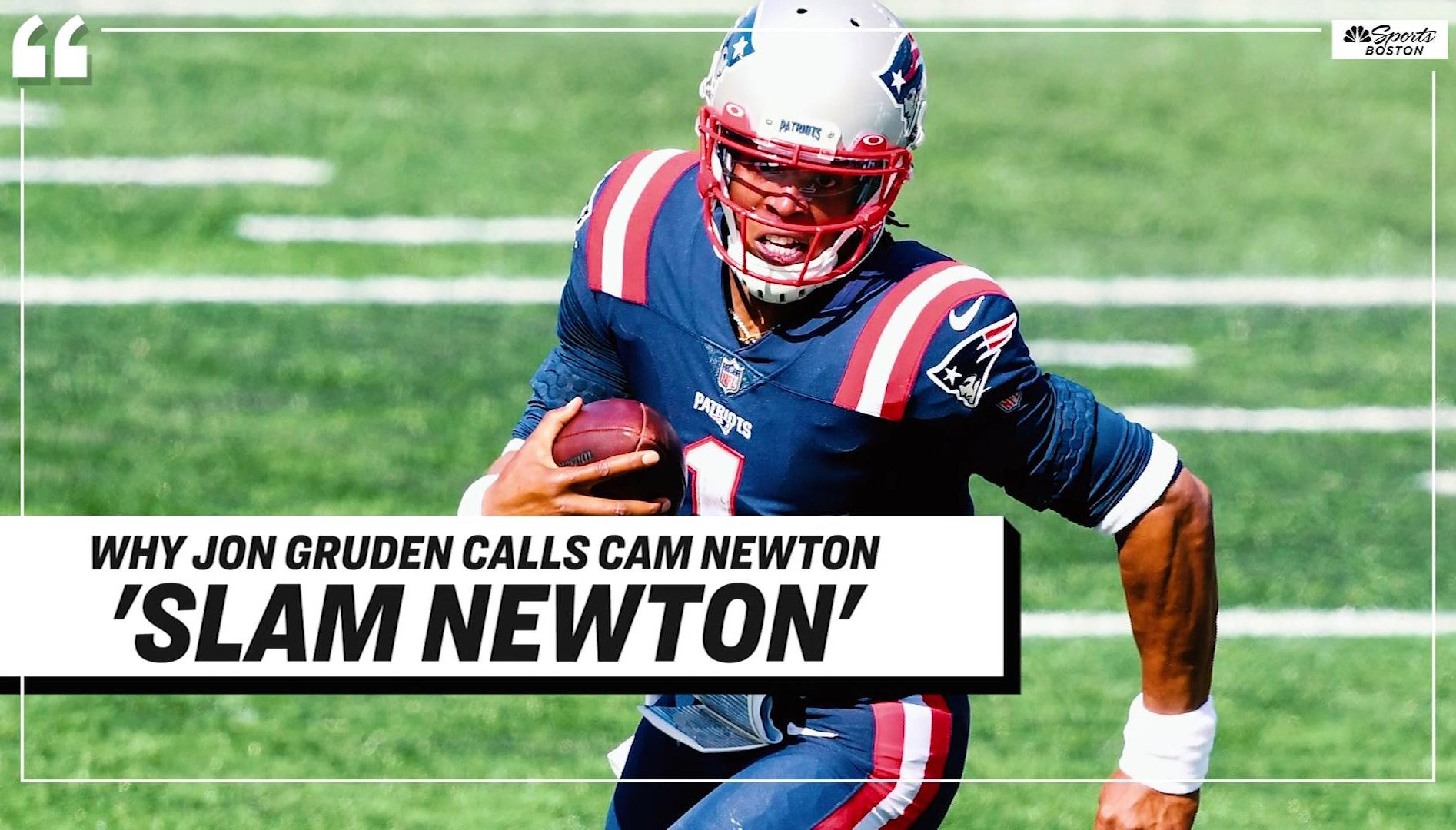 Cam Newton S Sideline Interaction With N Keal Harry Is Prime Meme Material Nbc Boston