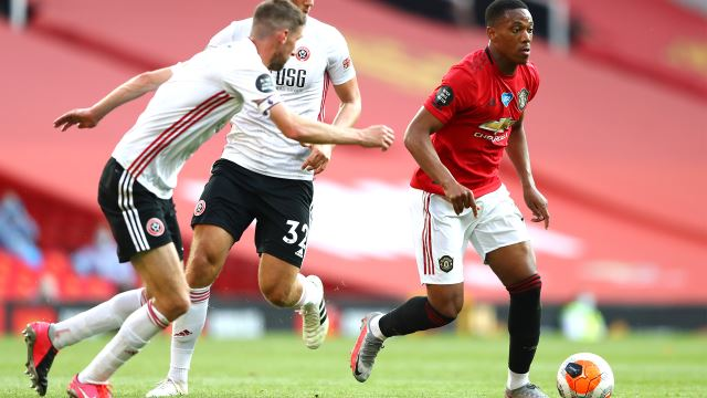 Martial Treble Leads Manchester United Past Sheffield United